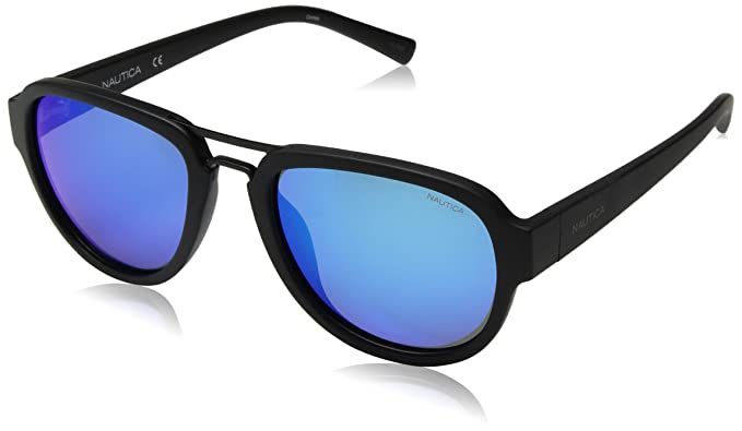 4911c4cb44 Image Unavailable. Image not available for. Color  Nautica Men s N3625sp Polarized  Aviator Sunglasses