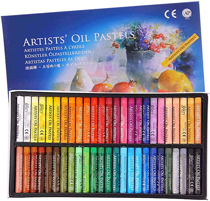 1 Set Colorful Square Oil Pastel Chalk for Artist Student Non Toxic Drawing Arts