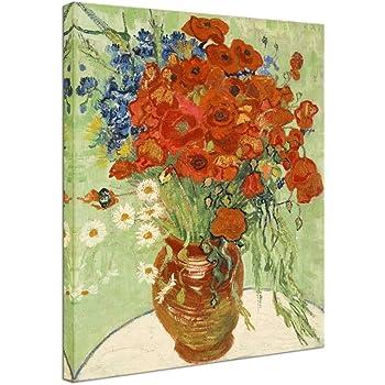 Amazon Wieco Art Irises In Vase Floral Canvas Prints Wall Art
