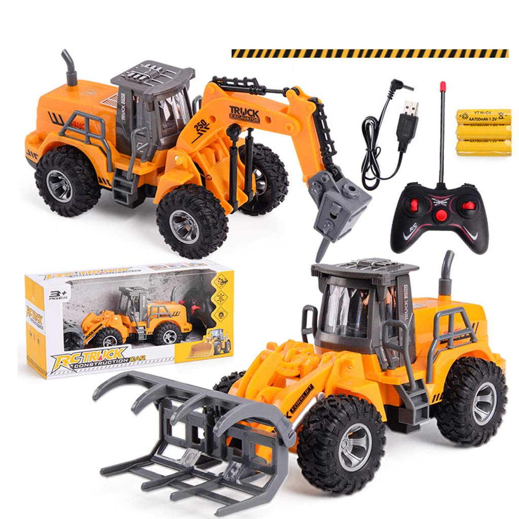 A Jinjin Remote Control Wireless Dump Truck Toy Electric Engineering Vehicle Rc Excavator Toy Beautifully Packed Box Suitable for Christmas Birthday Gifts for Children