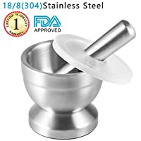 Deals on Tera 18/8 Stainless Steel Mortar and Pestle