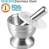 Tera 18/8 Stainless Steel Mortar and Pestle