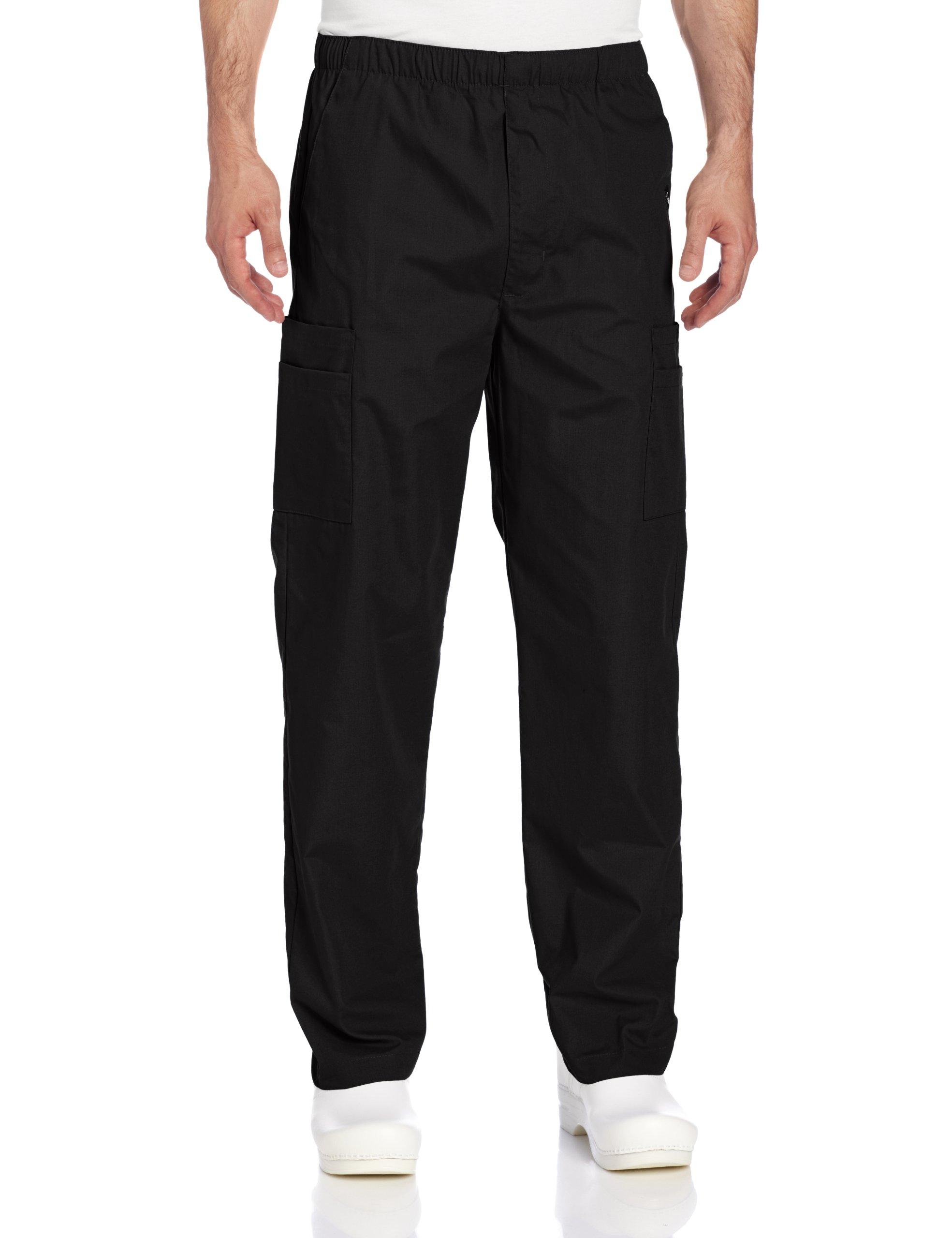 Landau Men's Cargo Scrub Pant, Black, X-Large