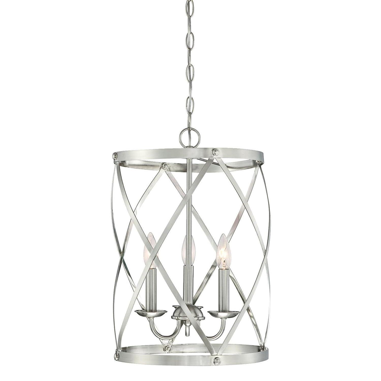 Westinghouse Lighting 6303800 Isadora Three-Light Indoor Chandelier, Brushed Nickel Finish,