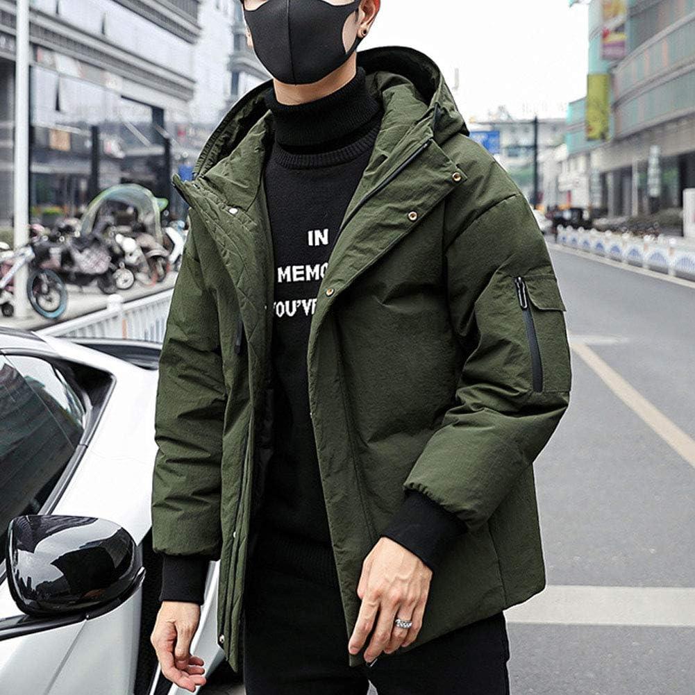 Michealboy Superior Hooded Down Jacket Parka Light Weight Winter Warm Coat for Men