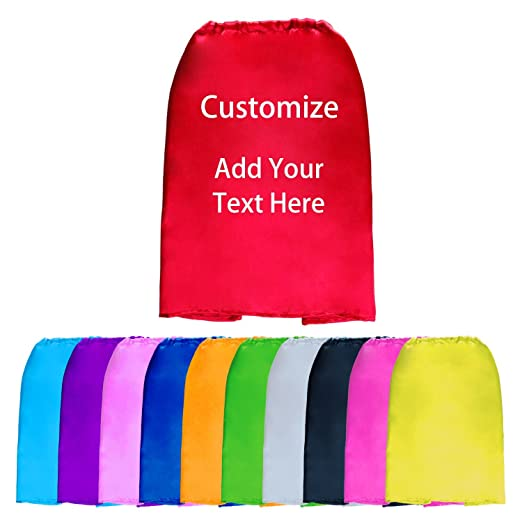 Amazon com: Personalized Super Hero Capes Bulk for Kids