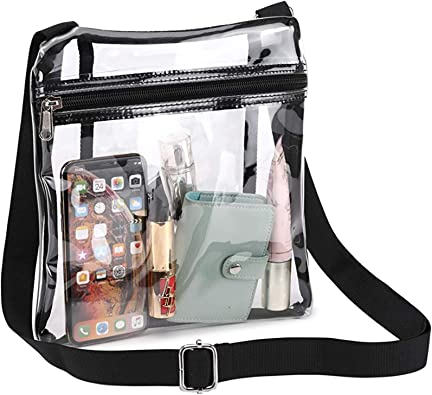 Stadium Approved for Concerts Sports Events Clear Crossbody Purse Bag