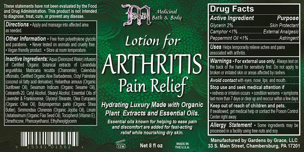 Amazon com : Arthritis Pain Relief Lotion | Extra Strength