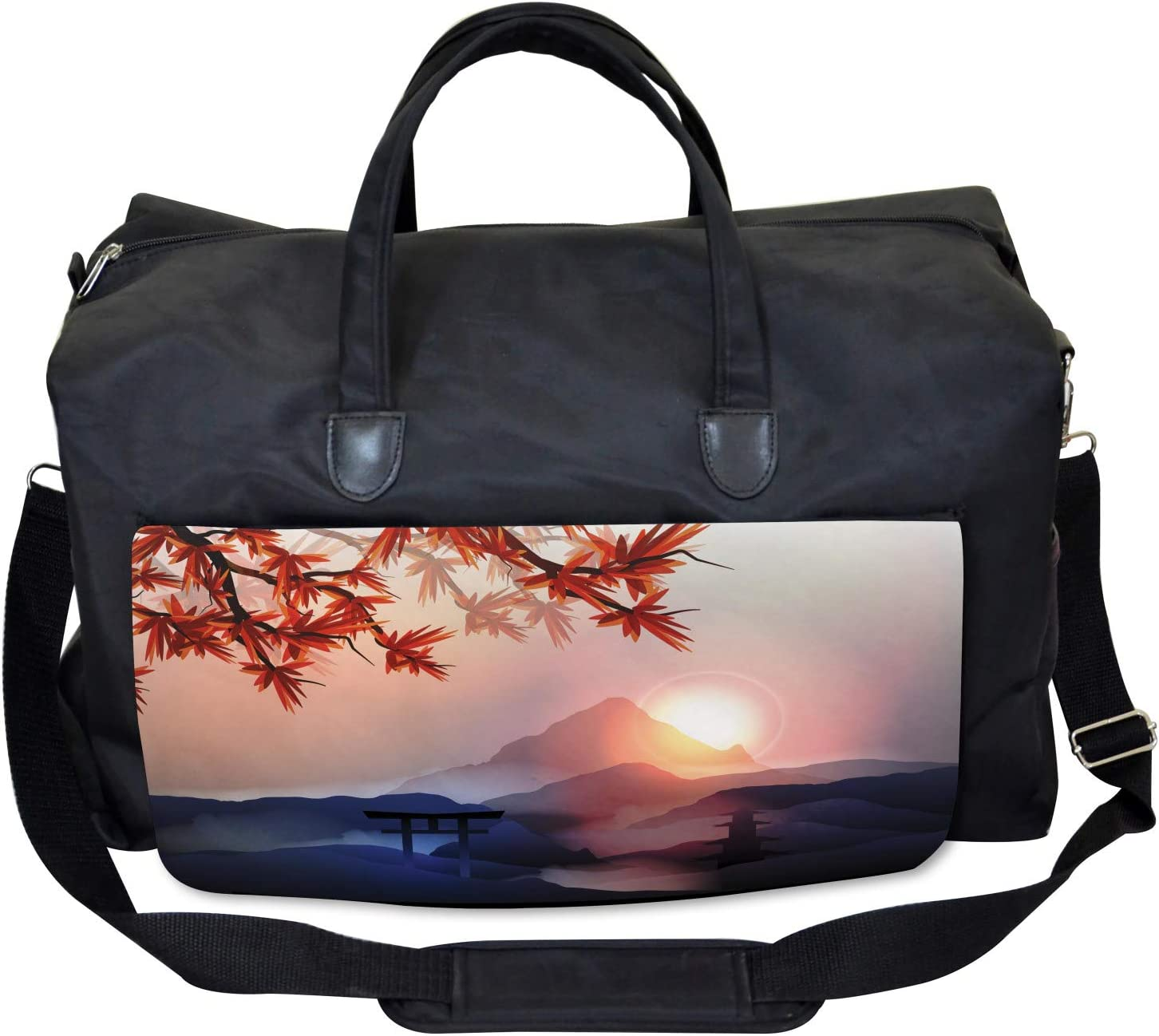 Majestic Himalayas Peaks Ambesonne Asian Gym Bag Large Weekender Carry-on