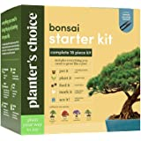Bonsai Starter Kit - The Complete Growing Kit to Easily Grow 4 Bonsai Trees from Seed + Comprehensive Guide & Bamboo Plant Ma