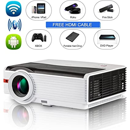 Amazon.com: 4200 Lumen Bluetooth Android Projector Support ...
