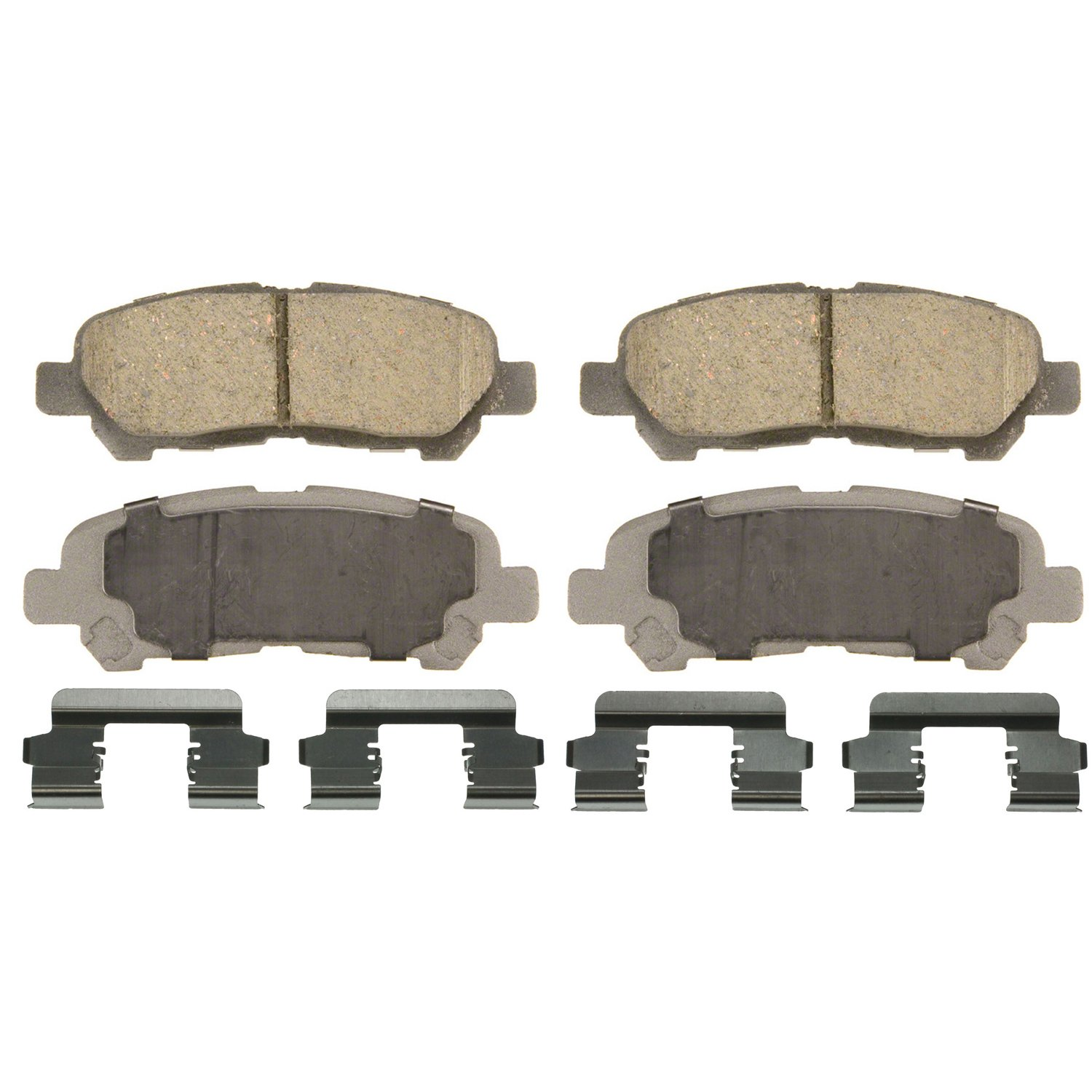 Wagner ThermoQuiet QC1325 Ceramic Disc Pad Set With Installation Hardware Rear