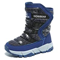 GUBARUN Jungen gefütterte Schneestiefel Outdoor Warm Winterstiefel Winter Wasserdicht Stiefel für Unisex-Kinder