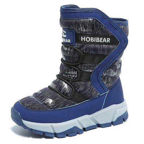 bd93db7bf GUBARUN Boys Snow Boots Kids Winter Boots Waterproof Indoor Outdoor Warm  Walking Shoes