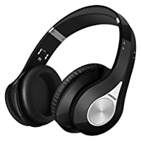 Mpow Bluetooth Headphones, Bluetooth Wireless Over-Ear Stereo Headset, Foldable Bluetooth Headphone with Soft Earmuffs for Cellphones/PC/ Tablets (Delicate Carrying Case Included) - Black