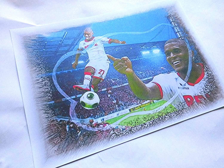 direkt vom K/ünstler 30cm x 42cm Manuel Neuer Wahnsinns Kunstdruck