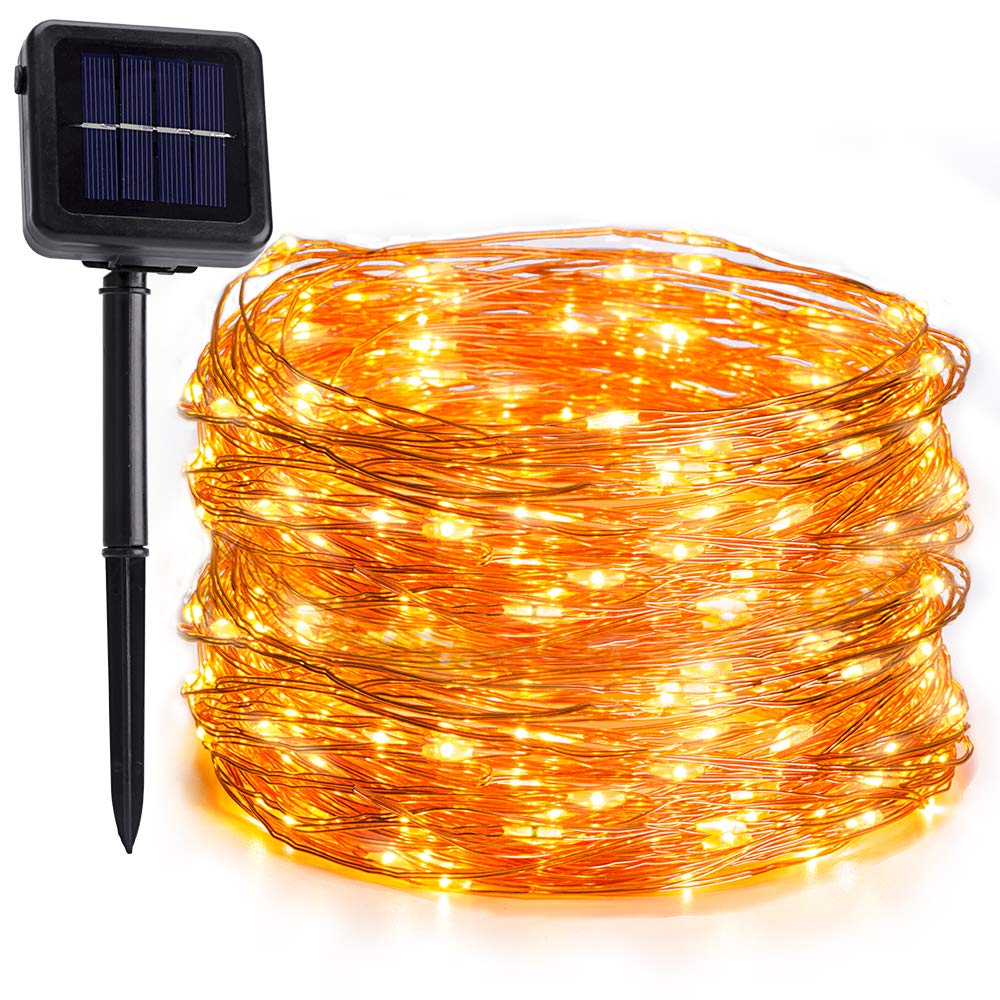 Ankuka Fairy Solar String Lights, 200 LED 72ft/22m Outdoor Solar Garden Lights with 8 Modes, Waterproof Fairy String Lights for Outdoor, Holiday, Home, Garden and Christmas Decorations (Multi Color)