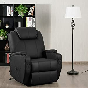 Tangkula Power Lift Recliner Chair with Massage and Heat