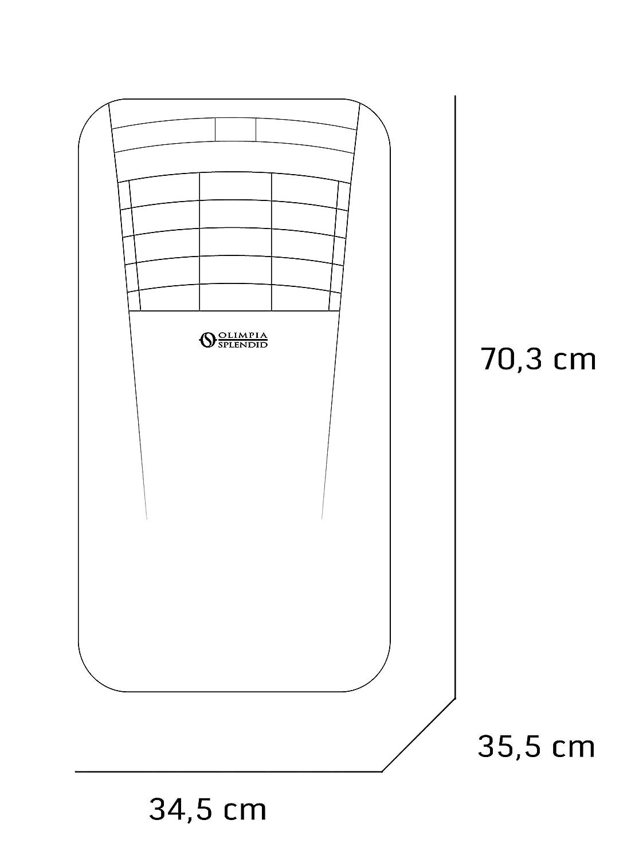 Olimpia Splendid 01913 Dolceclima Compact 8 P Climatizador Portátil 8.000 BTU/h, 2,1 kW, Gas R290, Diseñado en Italia, 2 Velocidades, Blanco: Amazon.es: ...