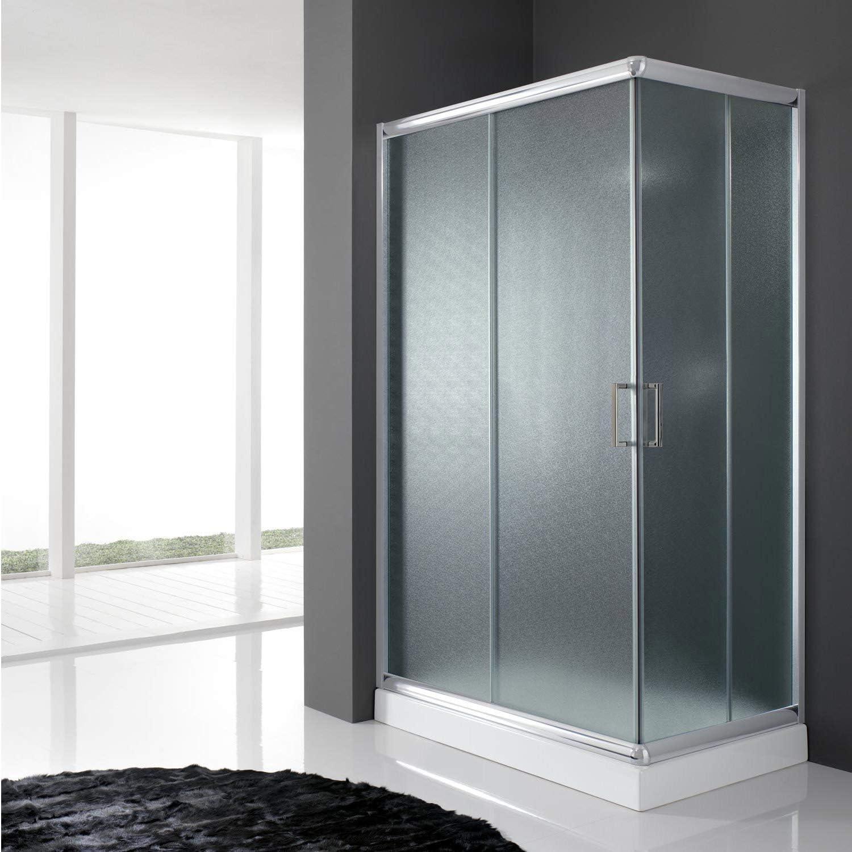 Cabina de ducha cuadrada 70 x 70 H 198 impresa C 6 mm: Amazon.es ...
