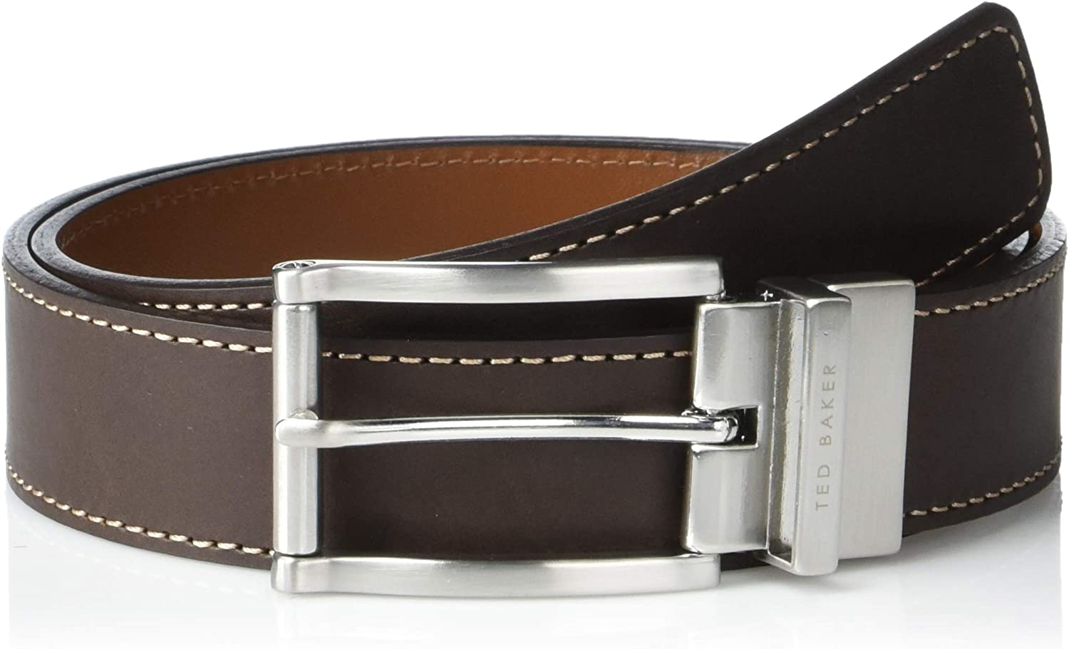 Ted Baker Bream Reversible Belt Brown: Amazon.co.uk: Clothing
