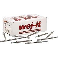 Wej-it SDFG1430 SLAM-IT Galvanized Flat Head Split Drive Anchor 1//4 x 3 1000ct