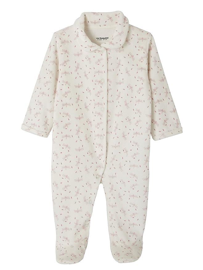 VERTBAUDET Lote de 2 peleles para bebé de terciopelo, con automáticos delante Amarillo claro bicolor/multico NACIMIENTO - 50CM: Amazon.es: Bebé