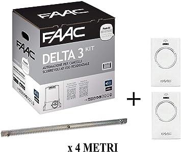 Faac Delta 3 Kit de automatización de puerta corredera 900 kg 105630445 + cremallera Hiltron 4 metros: Amazon.es: Bricolaje y herramientas