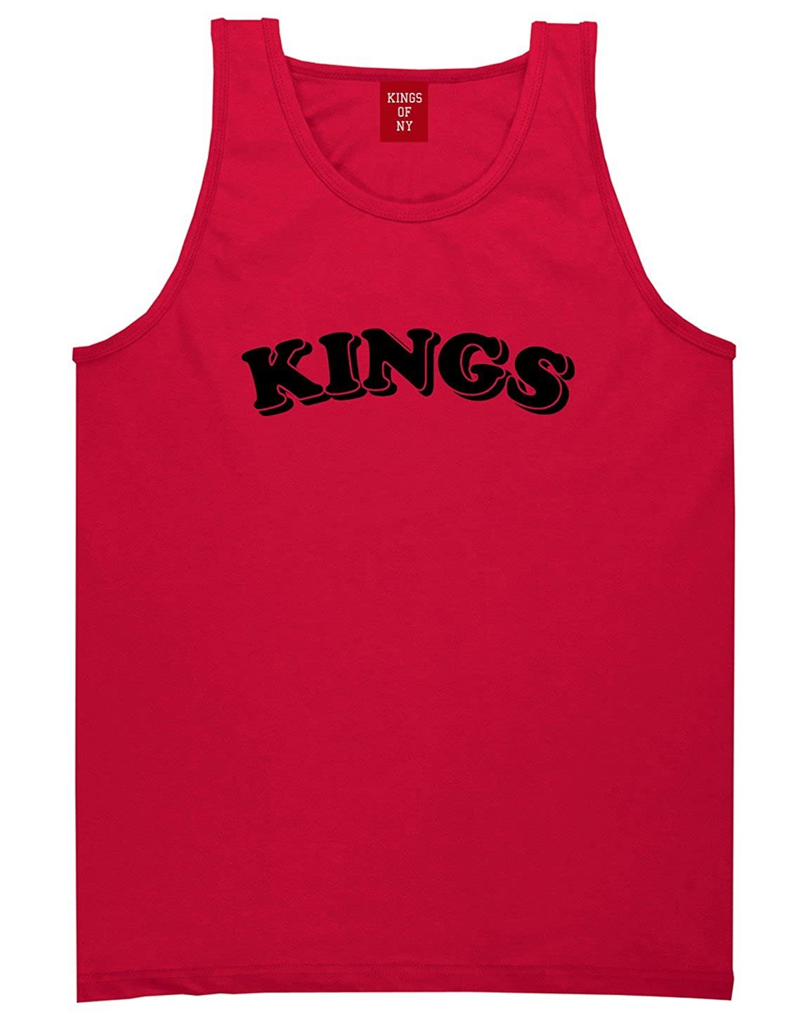 Kings Of NY KINGS Bubble Letters Mens Tank Top