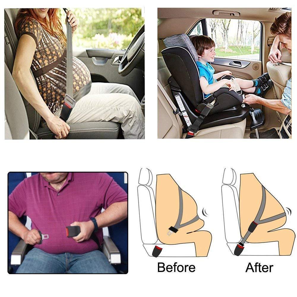 Cintura Auto Prolunga SANGYM Prolunga Cintura Sicurezza Prolunga Cintura Sicurezza per Seggiolino Auto Estensore Cinture Sicurezza Auto per Bambino Donna Incinta Uomo Anziano Persona