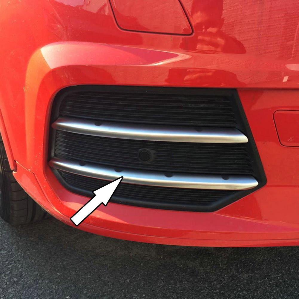 Generic Chrome ABS Matte Car Front Fog Light Lamp Eyelid Cover Trims For Audi Q3 2016 2017 Kate Wenzhou automobile supplies factory