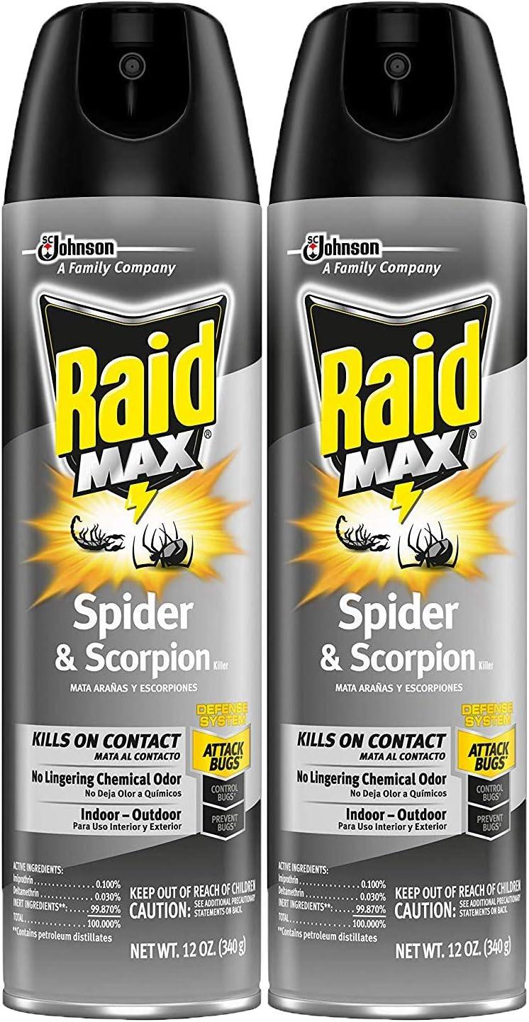 Raid Max Spider and Scorpion Killer, 12 OZ (Pack of 2)