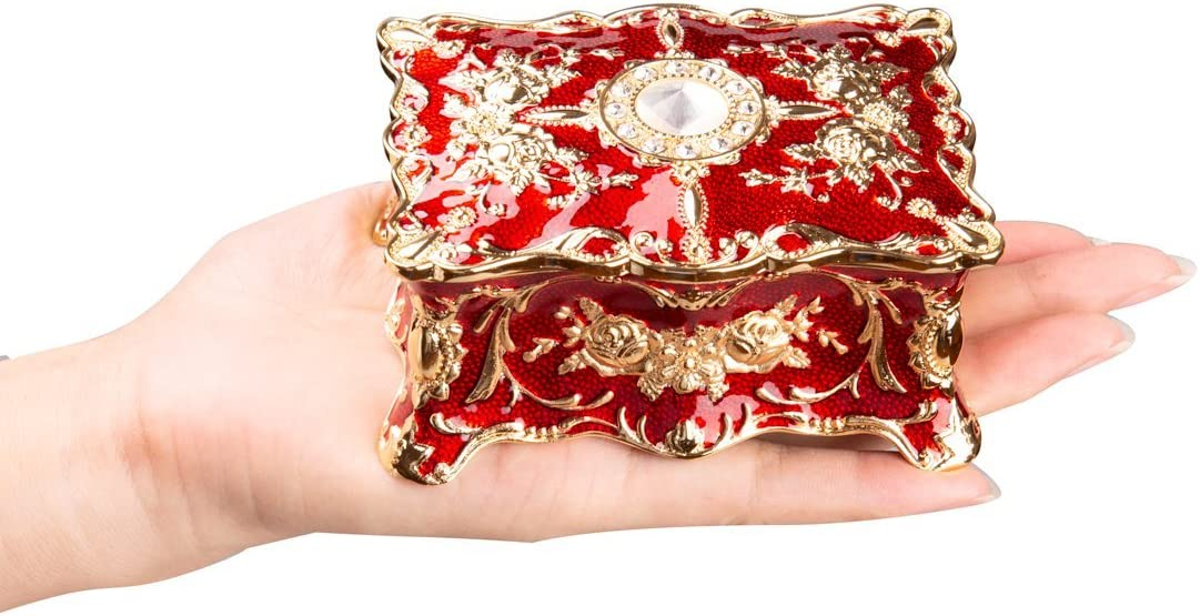 Red Tag Sale 50/% OFF Beautiful Must See Vintage Large Elongated JewelryStorage Decorative Box