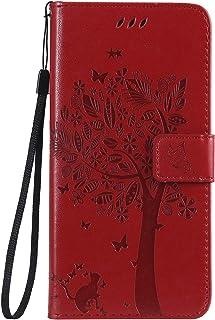 Huawei nova4 Case, Lomogo Leather Wallet Case with Kickstand Card Holder Shockproof Flip Case Cover for Huawei nova 4 - LOKTU080086 Hot Pink