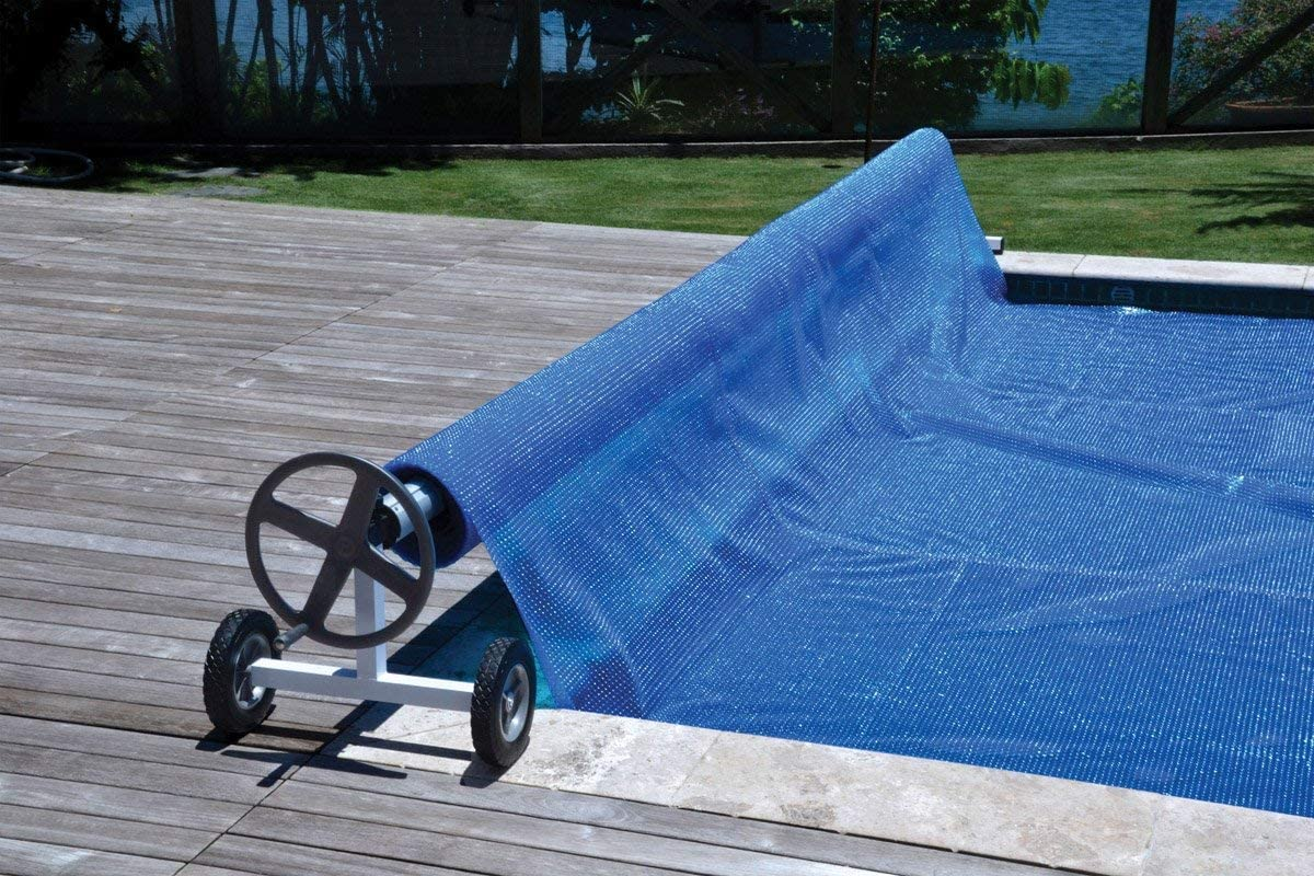 Up to 21 Ft Wide Aluminum Inground Solar Cover Swimming Pool Cover Reel