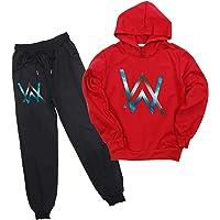 Alan Walker - Conjunto de 2 sudaderas con capucha y pantalones para niños y niñas