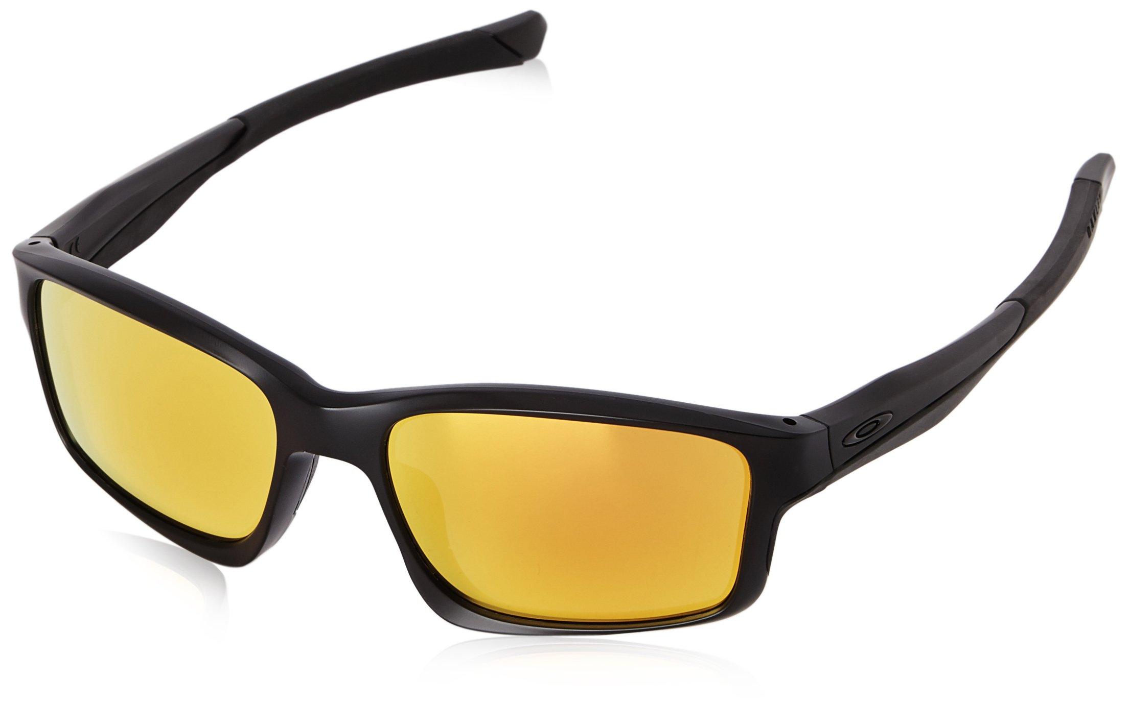 Oakley Mens Chailink OO9247-03 Non-Polarized Ractangular Eyeglasses, Matte Black, 57 mm