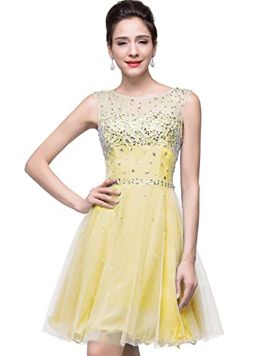 Babyonline Open Back Prom Dresses 2016 New Short Cocktail Party Gowns