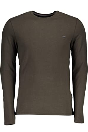 fe5755e5 Guess Jeans M84I00J1300 T-Shirt Long Sleeves Men: Amazon.co.uk: Clothing