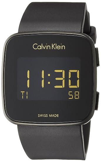 Calvin Klein Reloj Hombre de Digital con Correa en Silicona K5C214D1: Amazon.es: Relojes