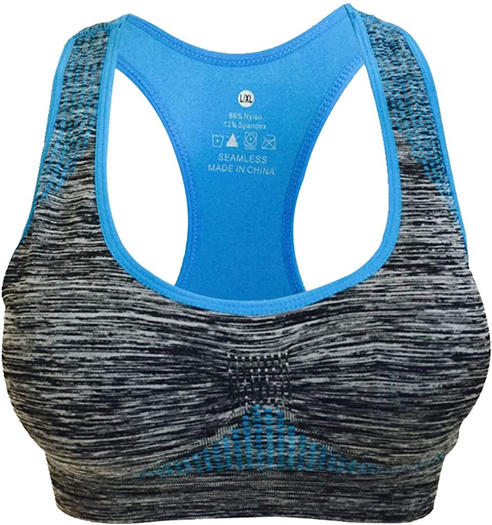 Yaseking Women Sports Bra Fashion Female Seamless High Impact Zero-Binding Racerback Gym Fitness Yoga Bras