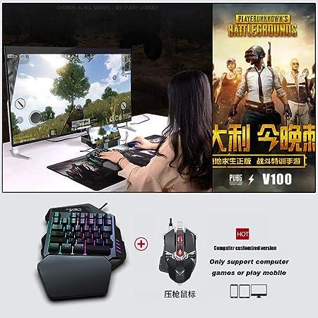 Volwco Juegos de teclado con una mano mecánica del juego teclado 35 Teclas
