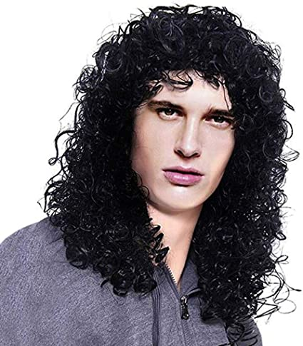 Pleasant Amazon Com Wigs Hair For Men 1Pc Mens Long Curly Black Schematic Wiring Diagrams Phreekkolirunnerswayorg