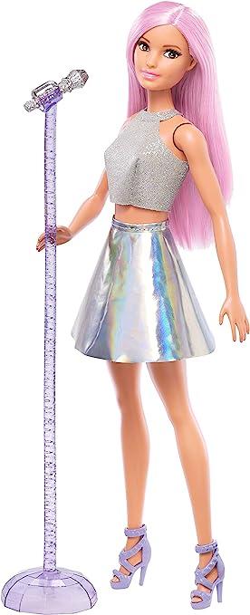 Oferta amazon: Barbie Quiero Ser Cantante, muñeca con accesorios (Mattel FXN98)