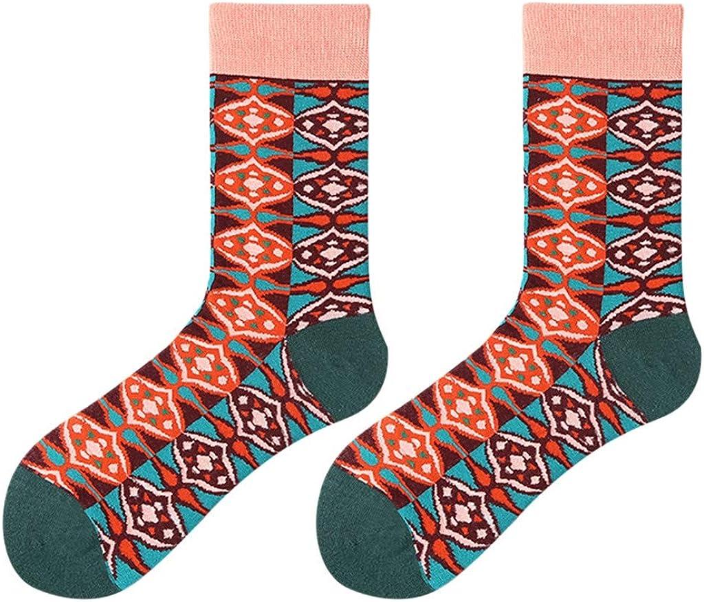 YWLINK Calcetines Casuales para Mujer Calcetines De AlgodóN Bohemio Calcetines Deportivos Hippie Medias De Tubo Transpirables Antideslizantes Apto para Todas Las Estaciones: Amazon.es: Ropa y accesorios