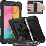 "Timecity Galaxy Tab A 8.0"" 2019 Case (Fit for SM-T290/T295/T297), Rugged Heavy Duty Protective Case with Rotating Stand, Tabl"