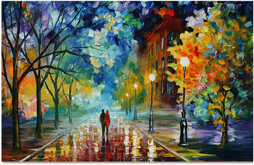 Lovers Poster Unframed Wall Decorative Art Canvas Abstract Romantic Couple Print Poster for Home Living Room Bedroom Office Modern Colorful Oil Painting Drawing Party Decor Decorations 12