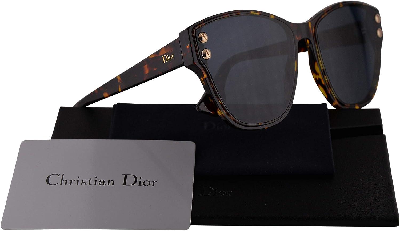 Dior DiorAddict cristiana 3 gafas de sol w / 60mm Azul Espejo lente Gradiente Oro P65A9 Addict 3 DiorAddict3 mujer La Habana Brown amarillo Grande: Amazon.es: Ropa y accesorios