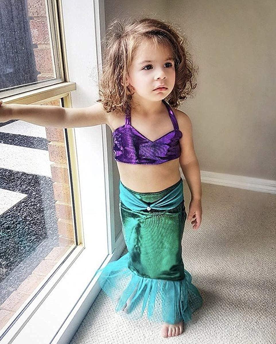 fbda4532329c Amazon.com  Kid Infant Baby Girls Mermaid Romper Outfit Bodysuit Jumpsuit  Swimsuits Tutu Party Dress Skirt Summer Clothes Set  Clothing