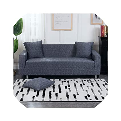 Amazon.com: Gray Sofa Cover Stretch Furniture Covers Elastic Sofa ...